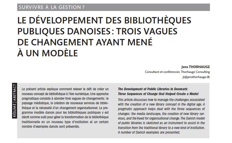 Documentation et Bibliotheque